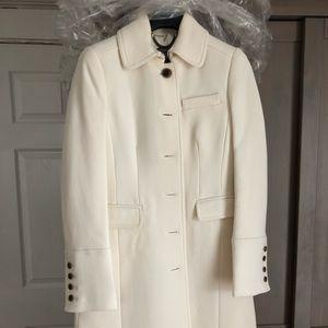 JCrew Lady Day Coat: Off-white Size 0